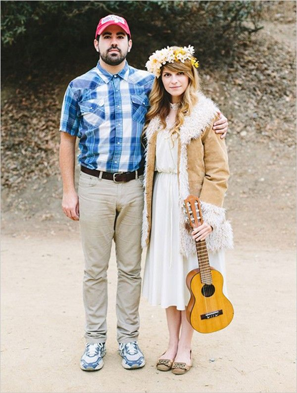 Forrest and Jenny: Got a guy that resembles Tom Hanks? Start rummaging those thrift stores for this easy costume. @myweddingdotcom