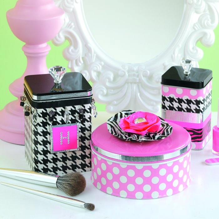 Using duck tape to make storage pretty. :)