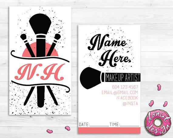 Makeup Artist Business/Appointment Card 10$ CAN