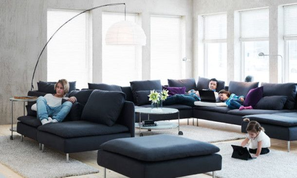 Ikea Living Room Ideas 610x366 13 Ikea Living Rooms Ideas for Your Living Room Love