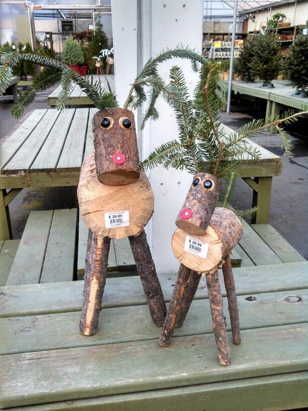 These Adorable Reindeer Are Made Out Of Small Tree Logs 2