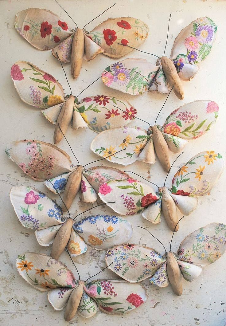 Beautiful vintage material butterflies
