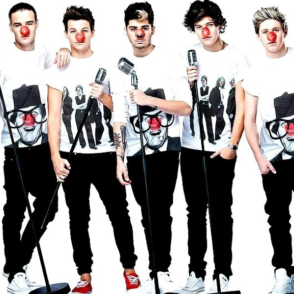so excited for the single! :) but I can't take them seriously with serious faces but a big red nose hahaha I'm sorry.