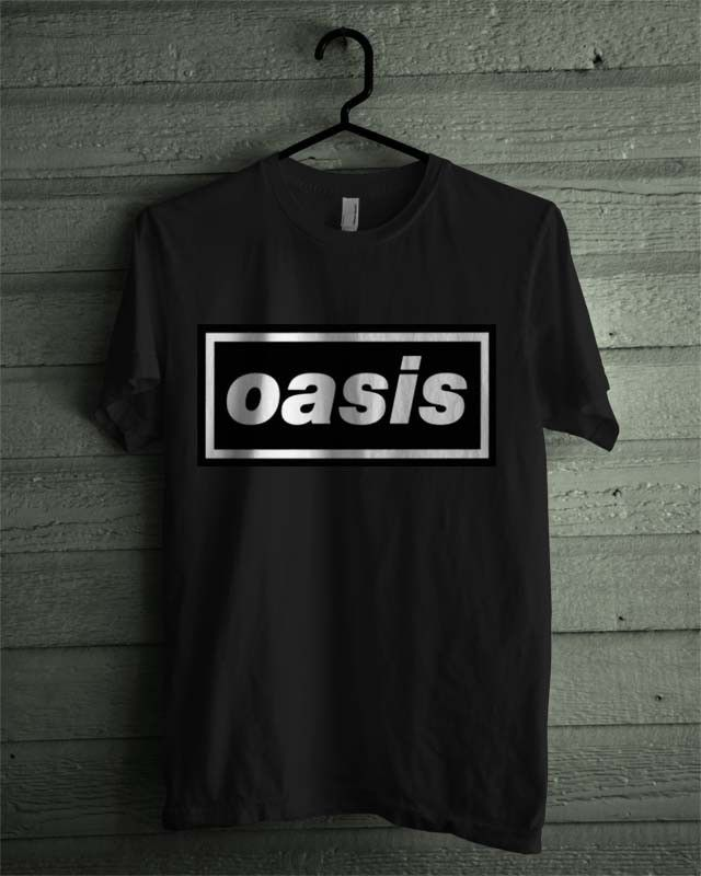 Oasis Band Black and White Shirt Tshirt Tee