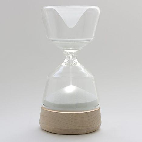 Hour glass night light
