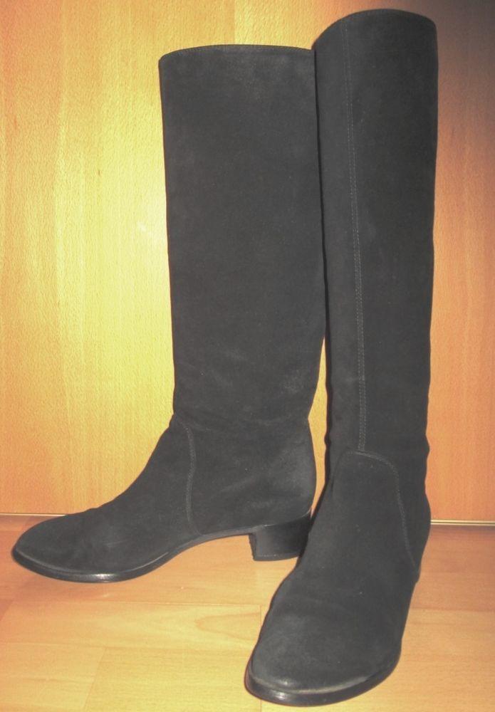 * * * SERGIO ROSSI Wildlederstiefel schwarz, Gr.39,5 * * * | eBay