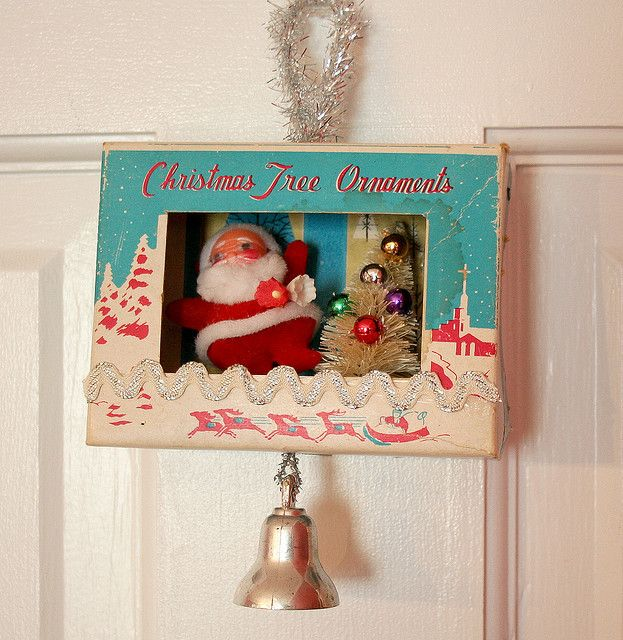 vintage Christmas decorations. The boxes were just as great as their contents!