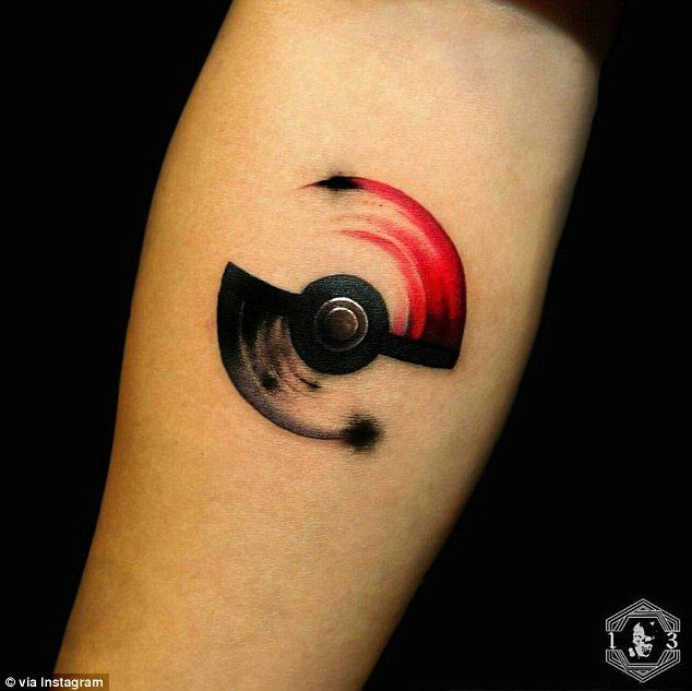 ink 'em all! Pokemon Go fans are getting TATTOOS of the monsters I choose you: Others have gotten tattoos of motifs like pokeballs.I choose you: Others have gotten tattoos of motifs like pokeballs. Fandom Tattoos, Gamer Tattoos, Anime Tattoos, Body Art Tattoos, New Tattoos, Sleeve Tattoos, Cool Tattoos, Easy Tattoos, Tattoo Pics