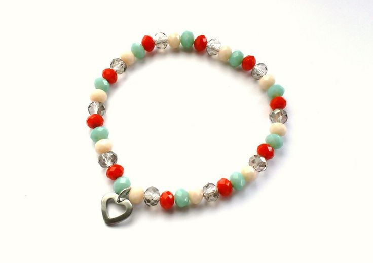Charm bracelet with a stainless steel pendant from Especially for You! http://en.dawanda.com/shop/Especially-4-You