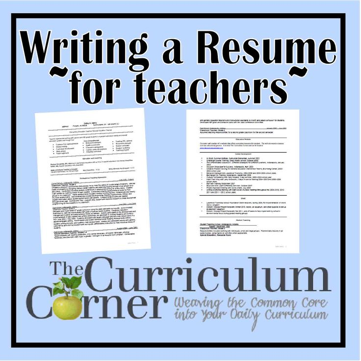 great resume writing tips and sample resumes for teachers so great for new teachers and - Sample Resume For Teachers Job