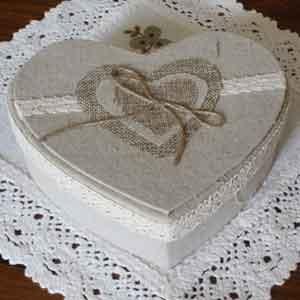 Petite boite à bijoux - boite forme coeur - coffret de rangement à bijoux