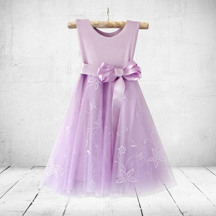 Jasmine in lavender. Flower-girl, christening or party dress. Little Miss   Online Shop
