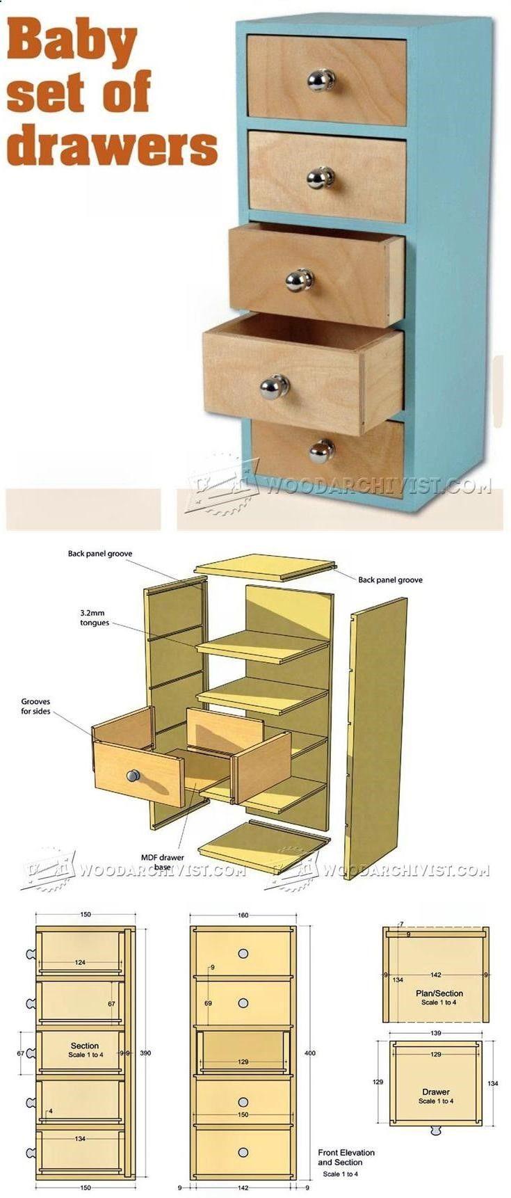 Small chest of drawers plans furniture plans and for Planos de carpinteria de madera
