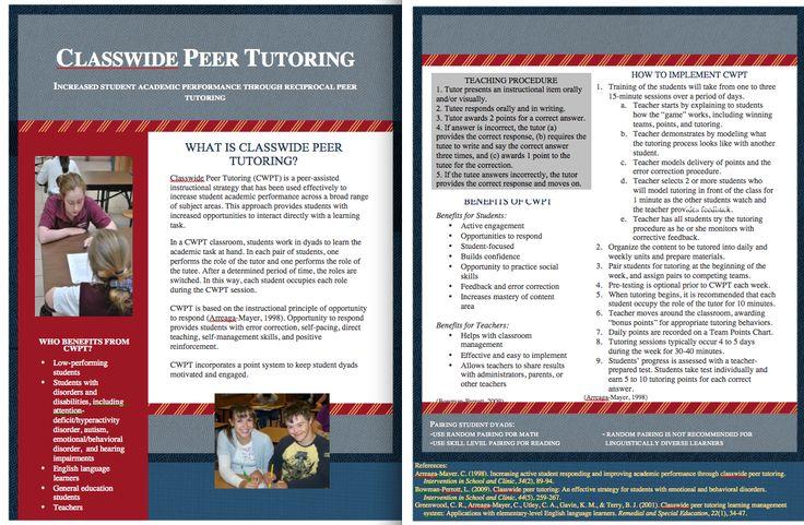 Classwide Peer Tutoring