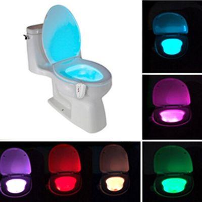 New LED Toilet Bathroom Night Light Human Motion Activated Seat Sensor Lamp | cndirect.com