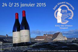 Mysterious cuvée for the Fête de Saint Vincent Tournante 2015 in the villages of Gilly-lès-Cîteaux and Vougeot 24-25 January.
