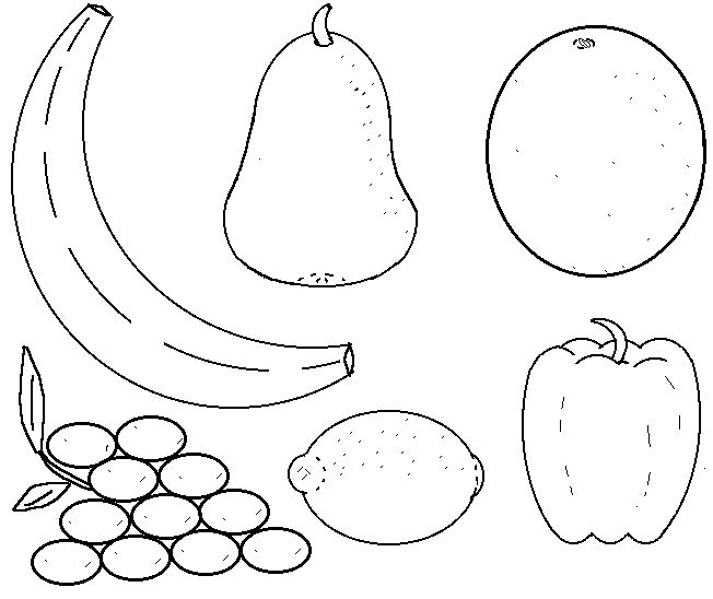 fruit and vegetable template free