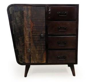 Desserte bois et fer, meuble de rangement Mathi Design