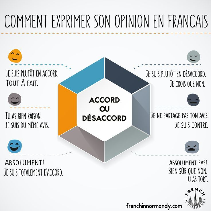 À mon avis… il faut apprendre comment exprimer ton opinion en français! Click on the image below from TV5 Monde to learn and listen how to express your opinion(...)