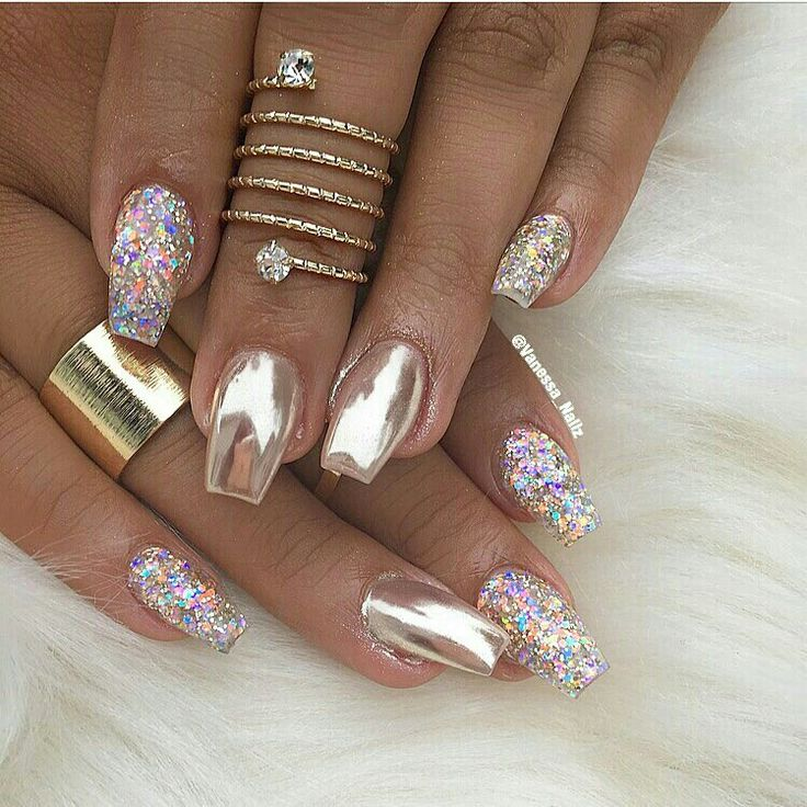 Idea by Jade 🌸 on Beauty related Chrome nails designs