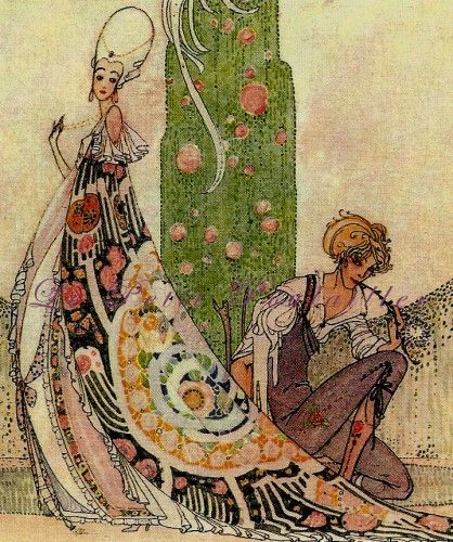 Kay Nielsen 1983 In Powder and Crinoline Fairy Tale Lithographs