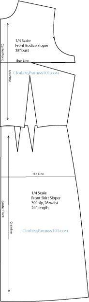 Galerry sheath dress pattern drafting