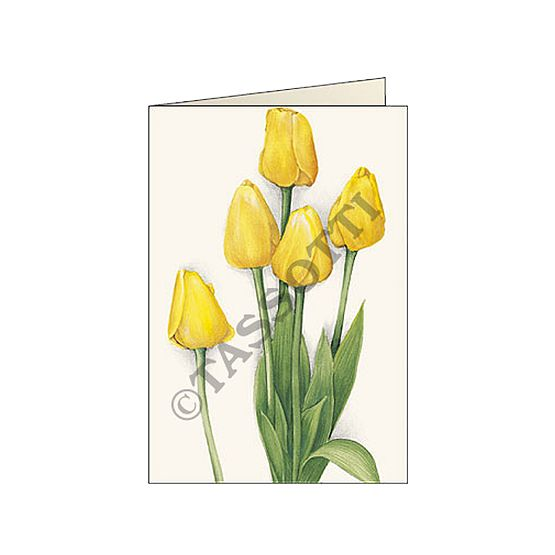 "Biglietti d'auguri Tassotti ""Tulipani Gialli"" - Greeting cards Tassotti ""Tulipani Gialli""- Tarjetas de felicitaciòn Tassotti ""Tulipani Gialli"""