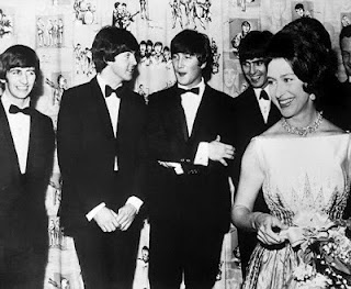 Princess Margaret with The Beatles.  Lucky.