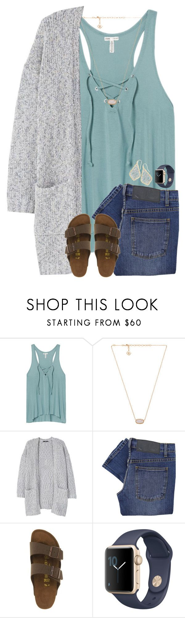 """""""Fingers crossed I make it through today"""" by wildasyou ❤ liked on Polyvore featuring Victoria's Secret, Kendra Scott, MANGO, Cheap Monday and Birkenstock"""