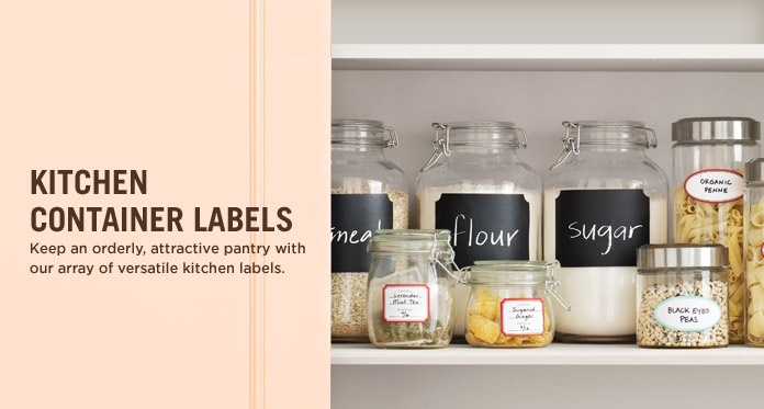 kitchen labels from the martha stewart home office collection, love this!