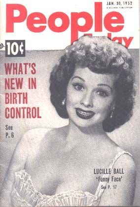 Lucille Ball - People Today Magazine [United States] (30 January 1952)