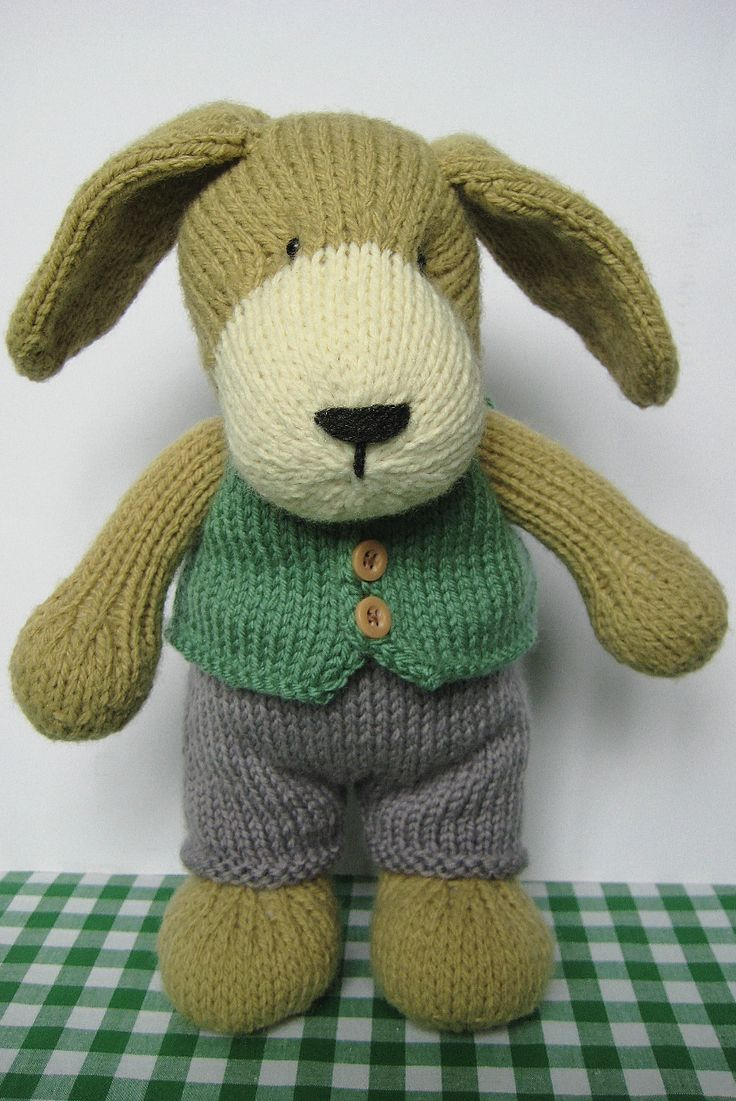 Free Knitting Pattern Toy Puppy : 356 best images about Free Stuffed Animal Knitting Patterns on Pinterest