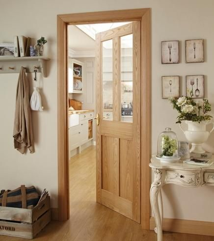Image result for oak door with white skirting