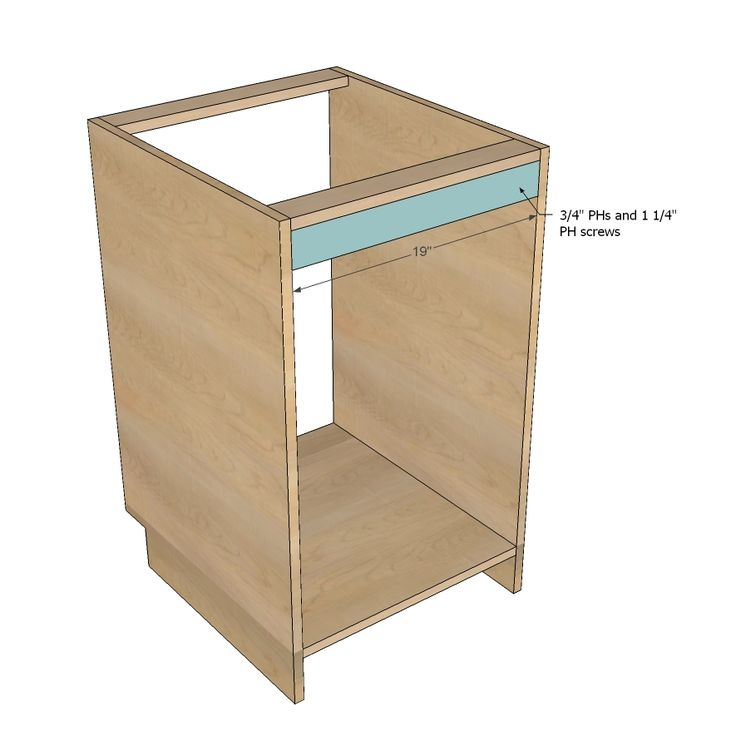 Kitchen Cabinet Carcasses: Face Frame Base Kitchen Cabinet Carcass