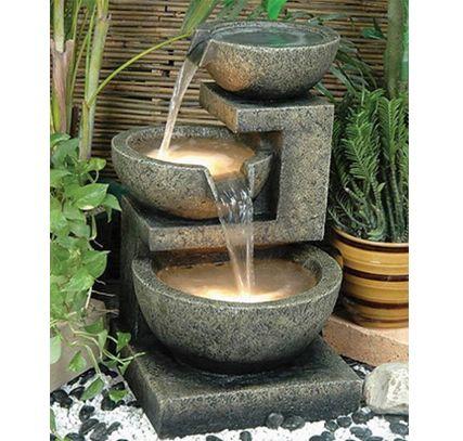 Alfresco Home Rocca Resin Fountain http://outdoorfurniturezone.blogspot.ca/2014/06/great-patio-furniture.html