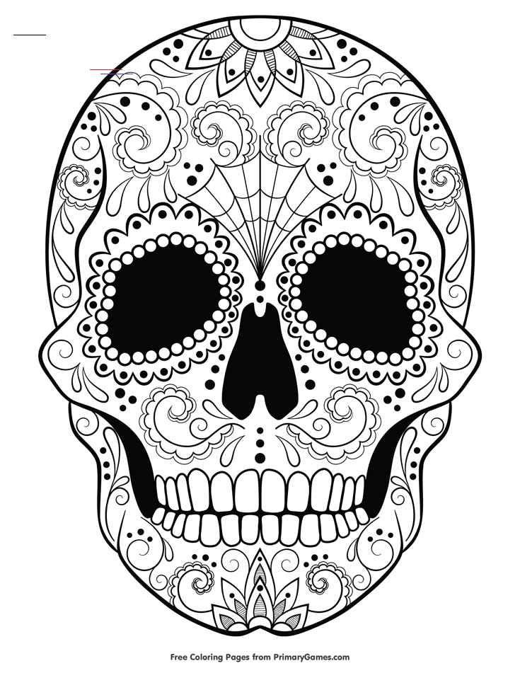 Sugar Skull Coloring Page Free Printable Ebook Halloweencoloringpages Free Suga In 2020 Mandala Kleurplaten Boek Bladzijden Kleuren Kleurplaten Voor Volwassenen