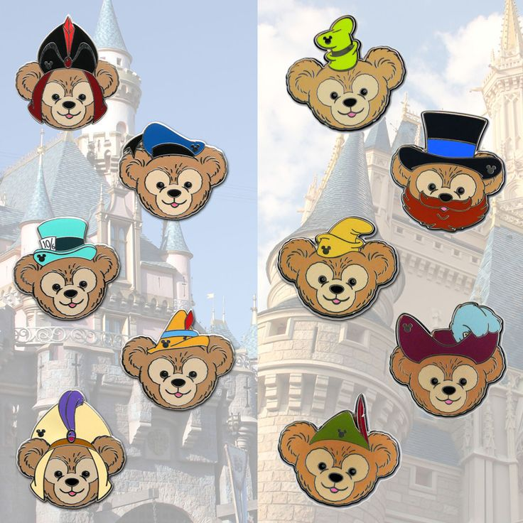 Celebrate the Seasons with Hidden Mickey Pins Featuring Duffy the Disney Bear Sporting Different Disney Hats