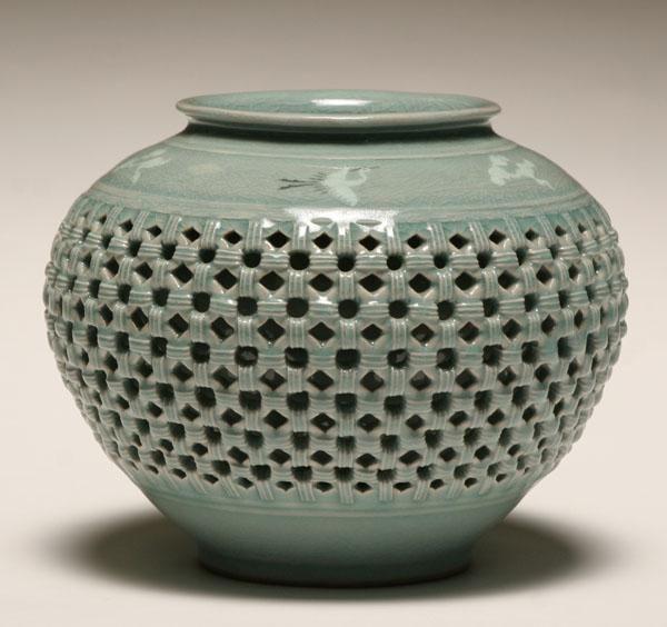A Korean celadon ceramic vase