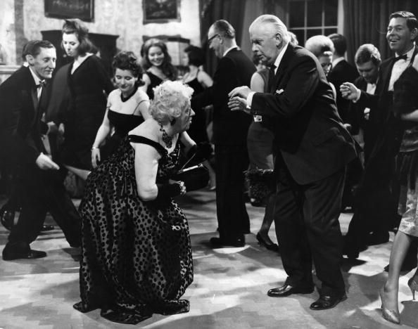 """""""Miss Marple"""" Margaret Rutherford doing the twist in the film """"Murder at the…"""