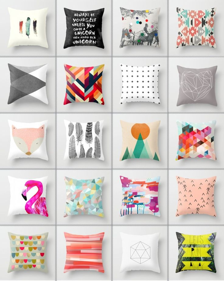 society 6 cushions - love mixing it up with different colours and themes. Like, Comment, Repin !!