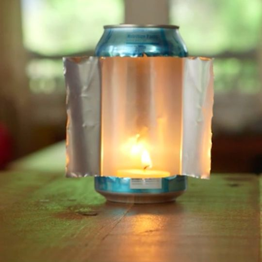 Fire your lantern dealer and see the light with this soda can trick.