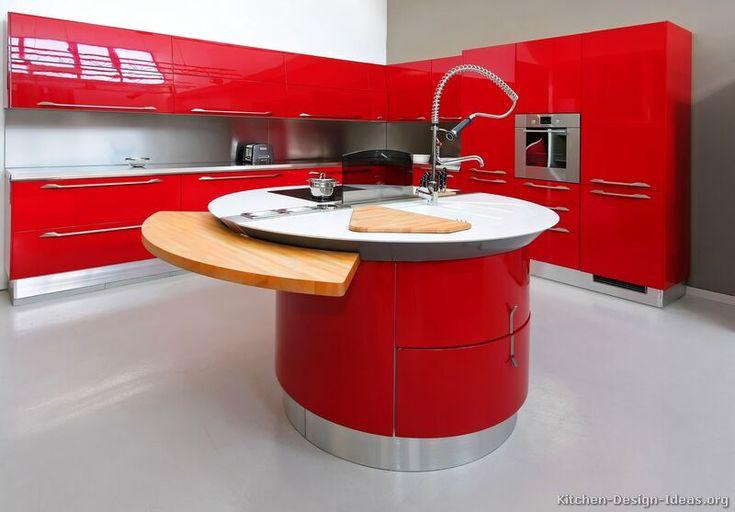 165 Best Red Kitchens Images On Pinterest Kitchen Ideas