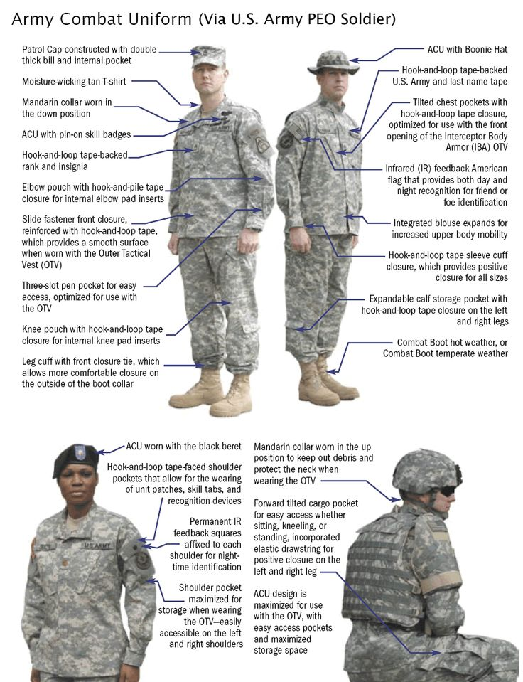 Detailed information on the Army Combat Uniform