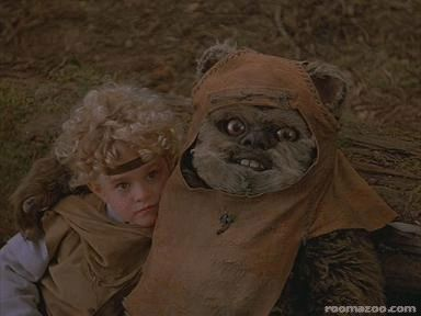 funny picture star wars crazy ewok animated gif