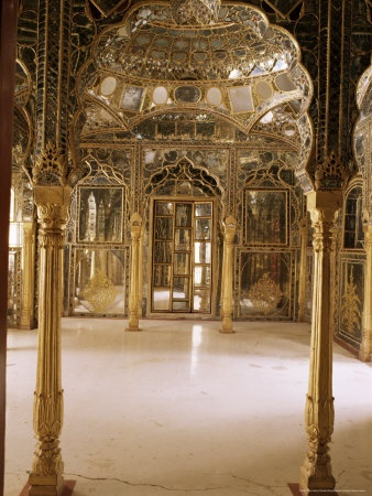 Sheesh mahal, India. Pictures don't do it justice - stunning.