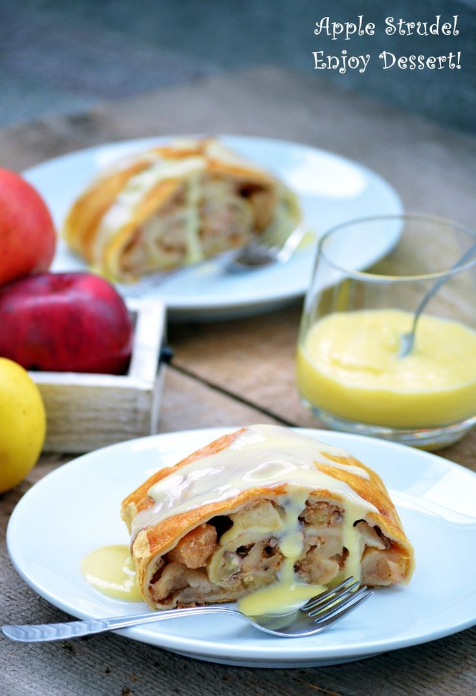 Apple & Vanilla Cream Strudel
