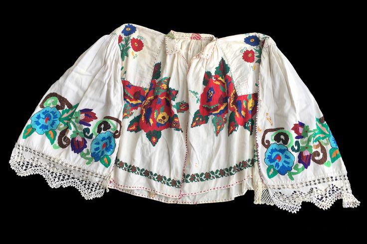 Rare antique Romanian traditional top blouse