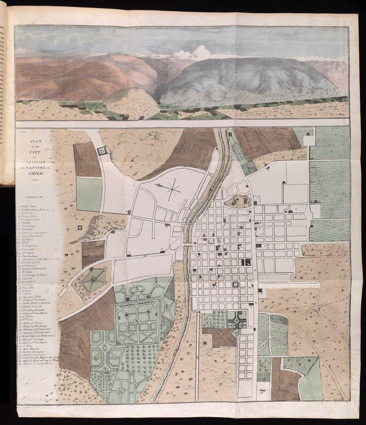 256 best mapas antiguos chile valparaiso santiago images for Mapa de santiago de chile