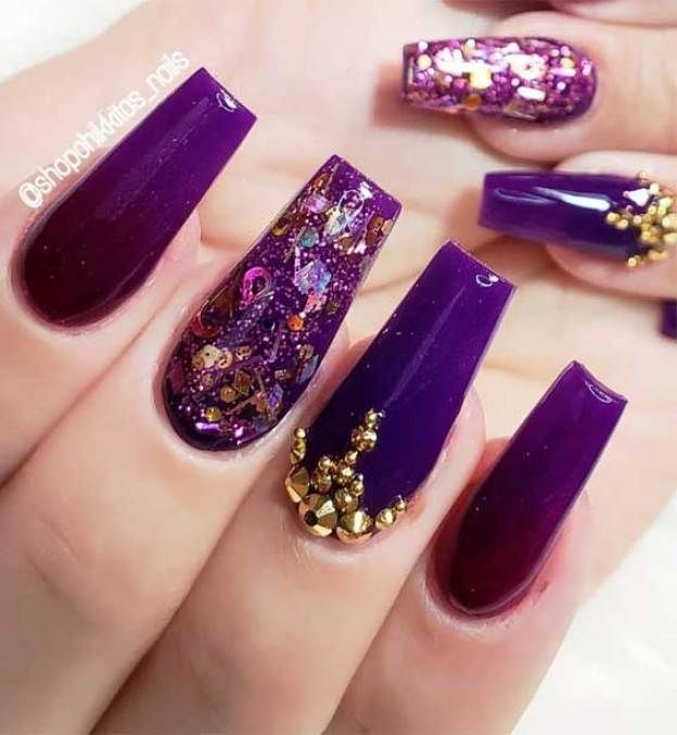 14 Glamorous Nail Art Designs Glam Nail Designs Nail Art Designs