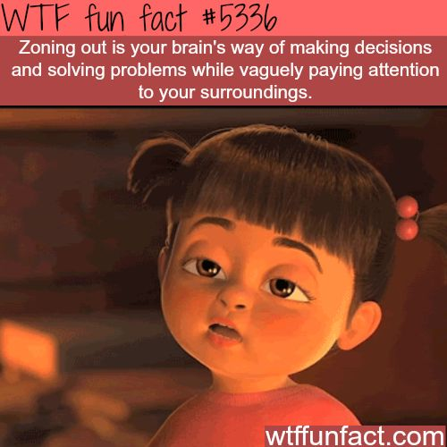 Zoning out - WTF fun facts